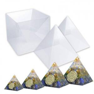 Large pyramid resin silicone molds for diy orgonite orgone pyramid orgonite jewelry