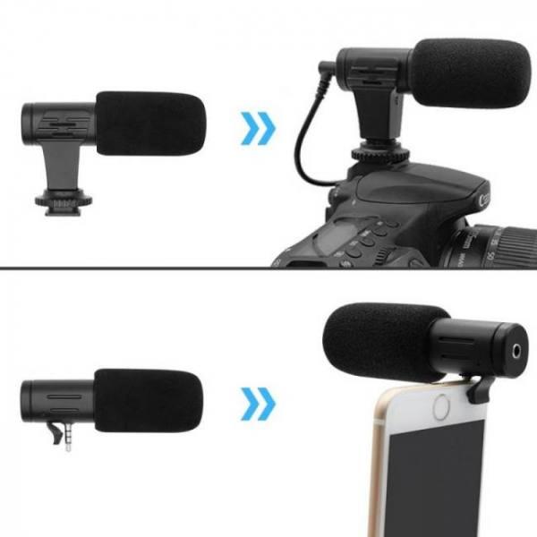 Mini portable 3.5mm condenser smartphone microphone