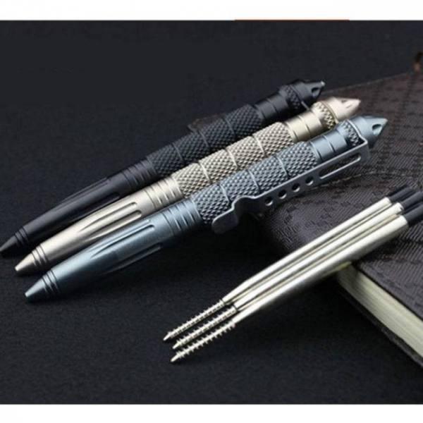 Edc aluminum glass breaker self defense tactical survival pen