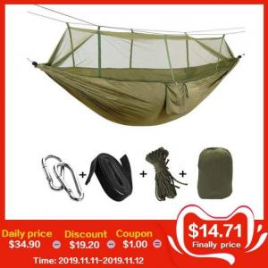 Portable outdoor camping hammock with mosquito net (for 1-2 person)