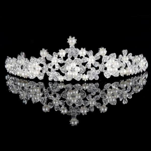 Women princess crown headband crystal rhinestone tiara and crowns hair band jewelry silver bridal hair accessories wedding