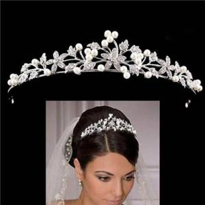 European crystal pearl bridal wedding tiaras and crowns hair ornaments head decorations rhinestone bride headpiece