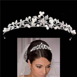 European crystal pearl bridal wedding tiaras and crowns hair ornaments head decorations rhinestone bride headpiece