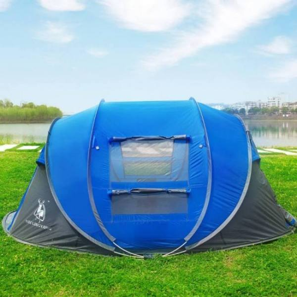 Automatic throwing pop up waterproof camping hiking tent