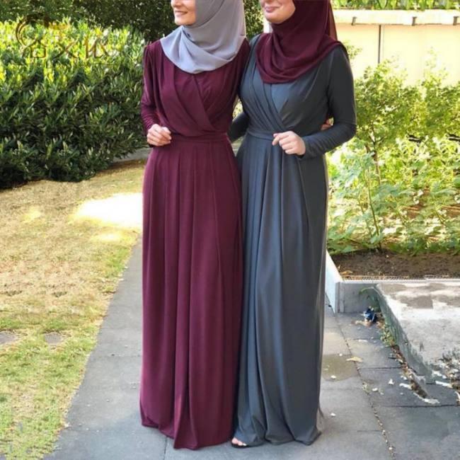 Pleated turkish style jilbab musli