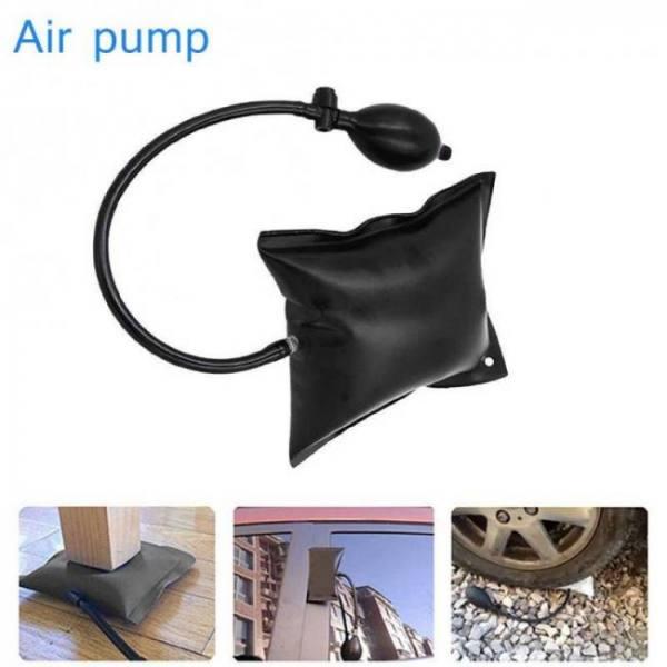 Inflatable air pump wedge airbag