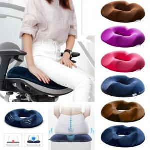 Anti hemorrhoid massage chair seat cushion comfortable foam tailbone pillow hip push up yoga orthopedic car office seat cushion