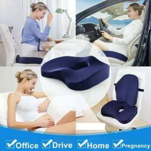 Non-slip orthopedic memory foam seat cushion for office chair car wheelchair back support tailbone pain relief
