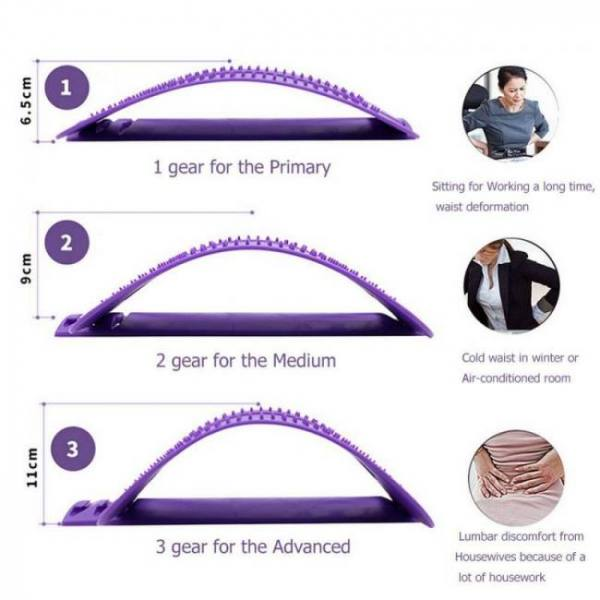 Back stretcher massager sciatica spine corrector chronic lumber pain relief