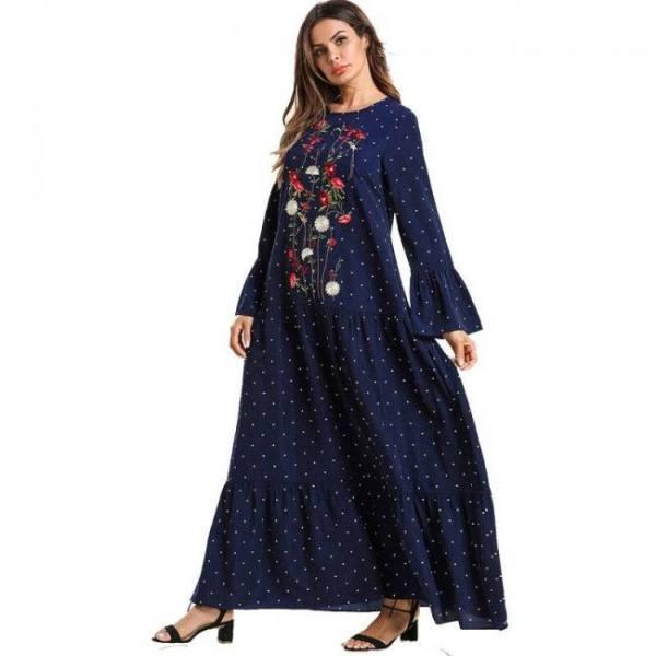 Women abaya kaftan hijab jilbab robe dress caftan