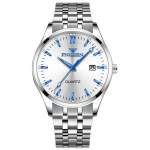 Fngeen business men's quartz wrist watch luxury stainless steel waterproof