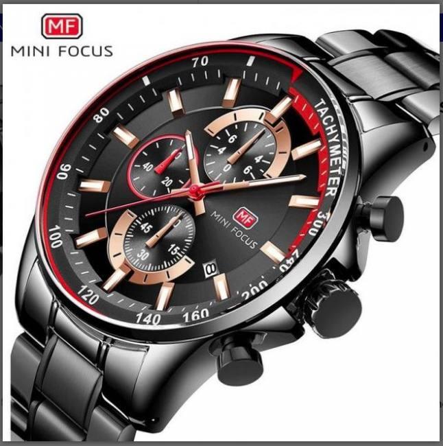 2020 men sport fashion blue quartz wrist watch with multifunction chronograph waterproof