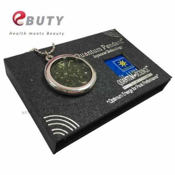6000cc high ion bio chi quantum pendant scalar energy with stainless steel necklace chain best quality 2pcs/lot