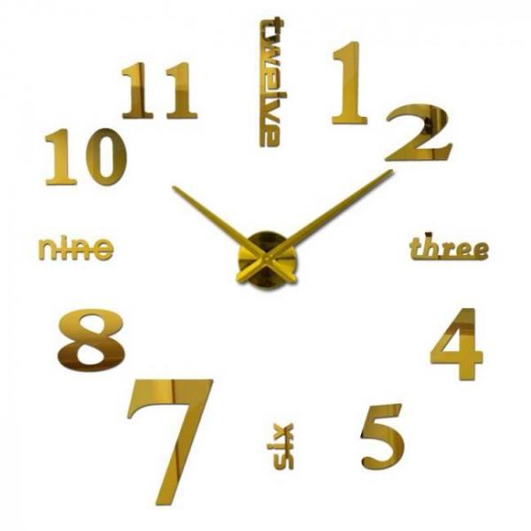 Fashion large quartz clock wall sticker for living room