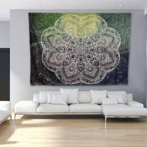 Indian mandala style wall tapestry