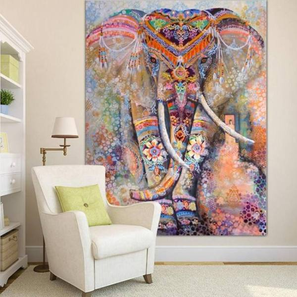 Indian mandala style wall tapestry