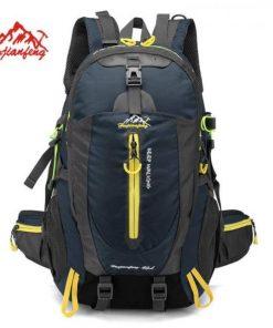40l waterproof climbing backpack rucksack outdoor sports bag travel camping hiking trekking