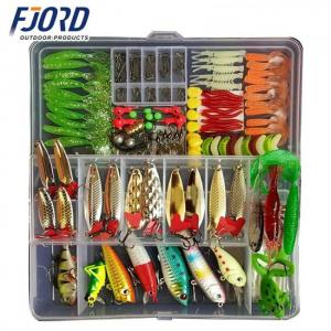 Fishing lure soft mixed colors plastic metal tackle wobbler spoon bait kit