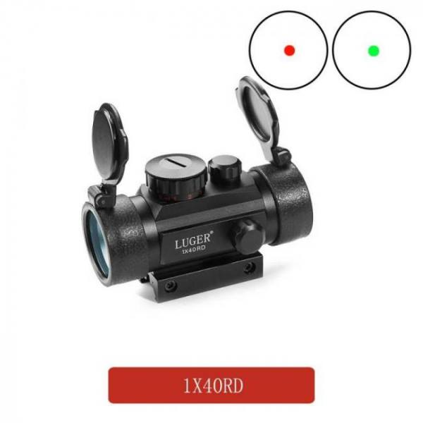 Tactical 1×40 mm red green dot sight scope optic collimator hunting riflescope with 11/20mm dovetail for rifle outdoor air gun