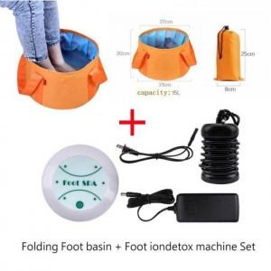 Foot bath spa ionic detox massage machine aqua cell