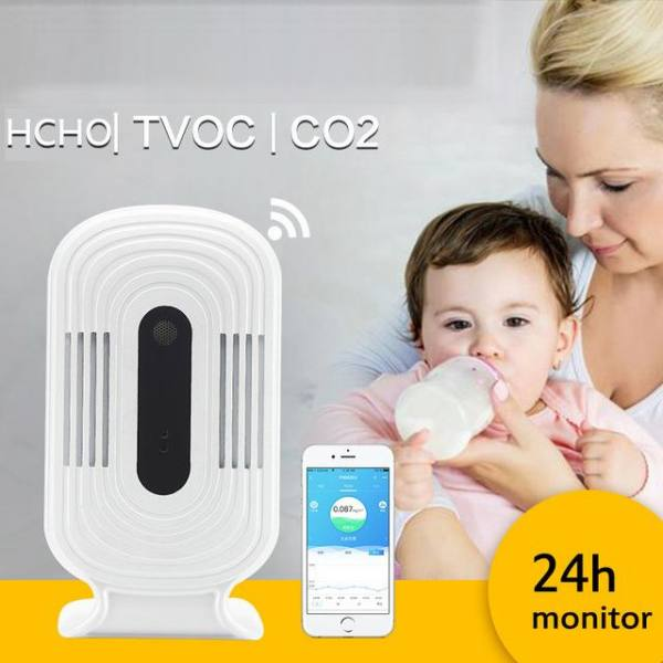 Detector co2 meter pm2.5 air quality monitor tester meter gas luchtkwaliteit meter hcho tvoc temperature humidity monitor