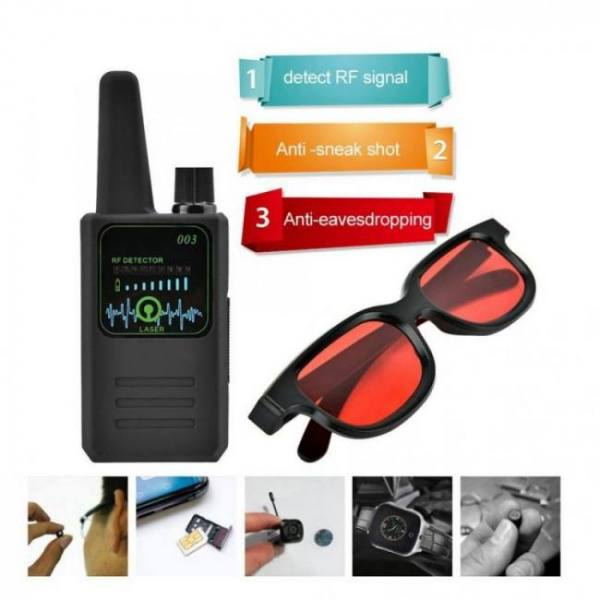 M003 multi-function anti-espionage anti-tracking camera wireless signal detector with glasses new