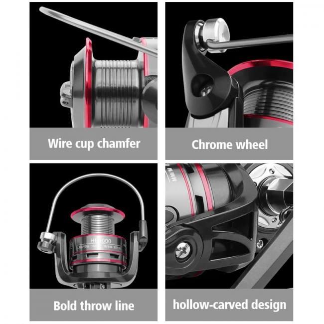 Fishing Reel All Metal Spool Spinning Reel 8KG Max Drag Stainless Steel Handle