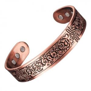 Little frog copper magnetic energy therapy bracelet cuff bangle for men or women