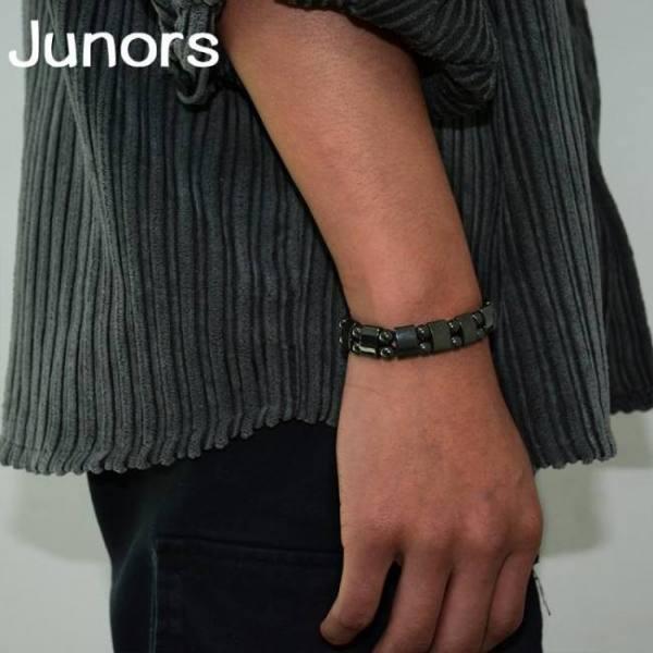 Slimming magnetic black stone tourmaline bracelet for women men weight loss