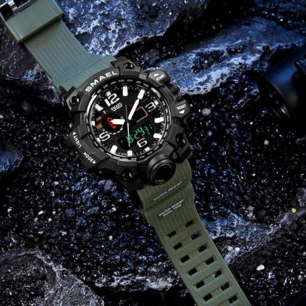 Men military army led quartz sport wrist watch 50m waterproof