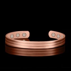 Magnetic pure copper health bangle bracelet healing bio therapy arthritis pain relief jewelry