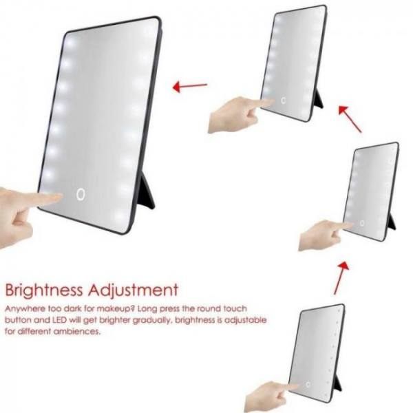 Makeup mirror with 8/16 leds cosmetic makeup mirror with touch dimmer switch