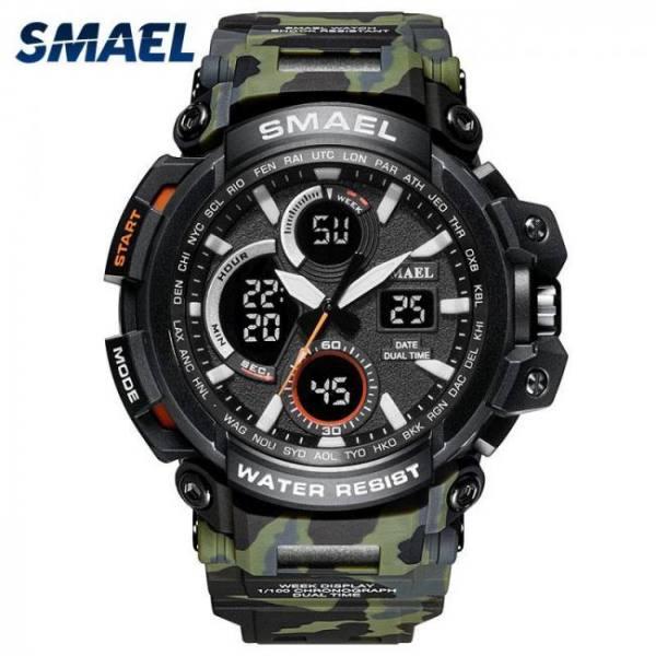 Smael sport men wrist watch waterproof led digital