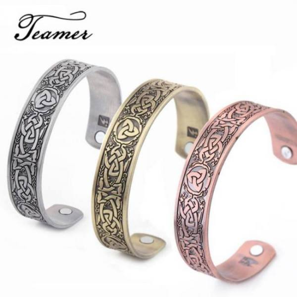 Viking bangles for men health care cuff magnetic therapy sport bracelet