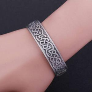 Vintage silver color health care magnetic cuff bracelet bangle
