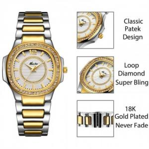 Women fashion geneva designer ladies quartz wrist watch
