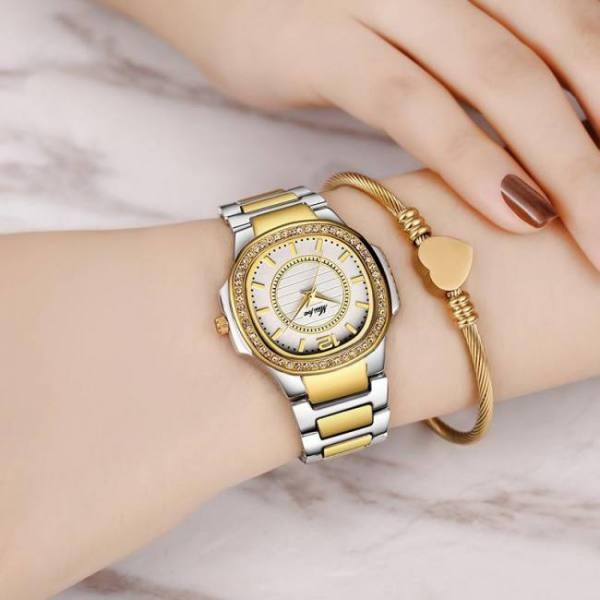 Women fashion geneva designer ladies quartz wrist watch