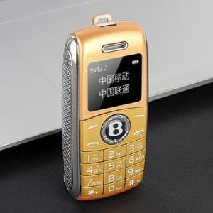 Mini telephone bluetooth gsm pocket phone – add 4gb tf card, gold