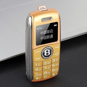 Mini telephone bluetooth gsm pocket phone – add 4gb tf card, gold