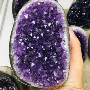 400g-1.7kg natural uruguay  dream amethyst quartz crystal cluster specimen healing