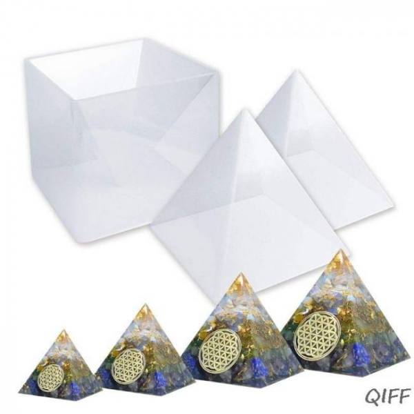 3pcs large resin molds for diy jewelry making resin orgone pyramid, orgonite jewelry,  silicone molds making tools