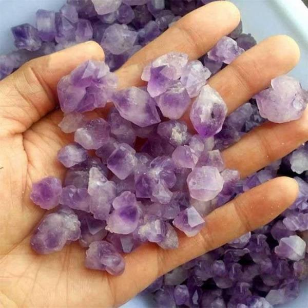 100g natural amethyst skeletal quartz point crystal cluster healing specimen natural stones minerals home desk aquarium decor