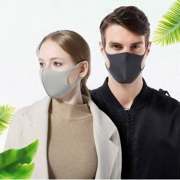 12pcs mouth mask cotton blend anti dust and nose protection face mouth mask fashion reusable masks for man woman washable