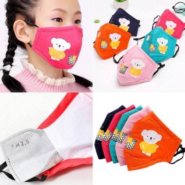 1pcs anti dust face mouth mask reusable breathable cotton protective children kid cartoon cute pm2.5 anti-dust mouth face mask