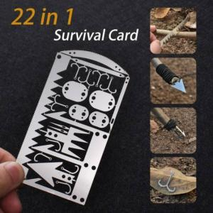 22 in 1 fishing gear credit card multi-tool outdoor camping survival tools hunting emergency survival edc kit survival tools hot