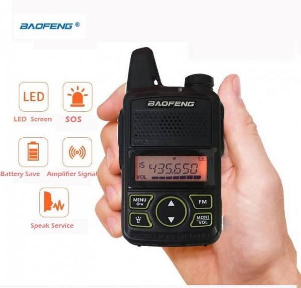 New micro usb interphone ultrathin bf-t1 baofeng mini walkie talkie professional for 400-470mhz uhf radio station ham cb radio