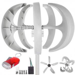 Vevor wind turbine 600w 12v/24v wind turbine generator white lantern vertical wind generator 5 leaves with controller
