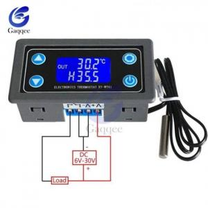 10a lcd display digital temperature controller regulator thermocouple thermostat sensor 12v 24v with ntc-10k b3950 probe cable