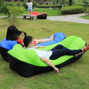 2019 trend outdoor products fast infaltable air sofa bed good quality sleeping bag inflatable air bag lazy bag beach sofa laybag