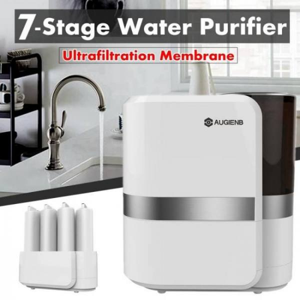 Augienb reverse osmosis water filtration system – 7 stage ro water purifier – under sink water filter + faucet -for lead arsenic